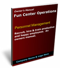 Personnel management manual for amusement business