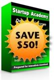save 50 on startup academy